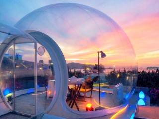 Bubble Me Up - World first exclusive dining experience, with 360 panoramic view from the rooftop